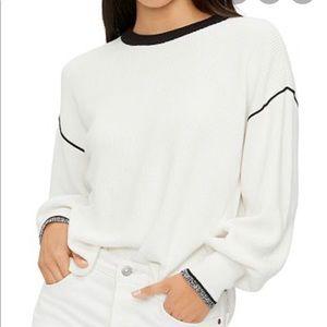 Michael Stars Sylvie Bishop-Sleeve Sweater